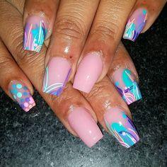 #prettynails #instanails #girlynails #neat #clean #sculptedset #tammytaylornails #inmnails #bgdn #freehand #nailart #differentnails #DETROITnails #NailsByMAC Colorful Nail Art, Colorful Nail Designs, Nail Art Designs, Glam Nails, Hot Nails, Purple Manicure, Silver Nails, School Nails, Toe Nail Art