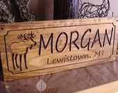 Wood Carved Last Name Address Plaques Wooden Signs Rustic Carved Cabin Lodge Camp Signs Personalized Wooden Sign Benchmark Signs