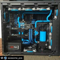 Instagram media by pcmonstrobh - @awesome_pcs with @repostapp. ・・・ Check out @cdrw700 custom build  #pc #gaming #build #custom #gamingpc #custompc #blue #watercooled #water#pcmonstrobh