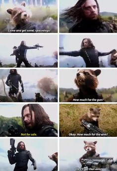 "I think this might be my favorite scene from the movie. << Also, ""I am Groot"" ""I'm Steve Rogers"" and Thor's entry in Wakanda"
