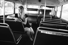 Beautiful Senior Graduation Session with a London Double Decker bus at UC Davis, California // Photographed by SimoneAnne.com