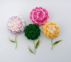 Crochet Corsage Brooch - Rose Brooch - Any Color - Made to Order