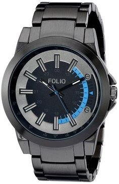 Folio Men's FMDMSG018 Analog Display Quartz Grey Watch - http://yourperfectwatch.com/folio-mens-fmdmsg018-analog-display-quartz-grey-watch/