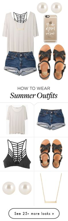 """summer outfits are always going to be my thing!"" by kyleemorrison on Polyvore featuring Jack Wills, RVCA, Casetify, T By Alexander Wang, Henri Bendel and Stella & Dot Not a fan of the shoes but I like everything else."