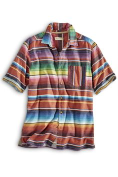 Serape Mas Loco Stripe Shirt: Exceptional Casual Clothing for Men & Women from #TerritoryAhead $59.50 - $65.50