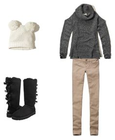 """""""Obsessed with that sweater😍"""" by robotwin on Polyvore featuring Hollister Co. and UGG Australia"""