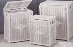 Medium Wicker Hamper ( Shown on Left) via @wickerparadise #wicker #bathroom #hamper www.wickerparadise.com
