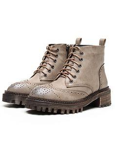Коричневые ботинки с шнуровками  3105
