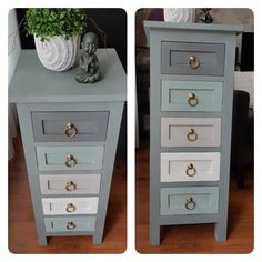 Take out drawers and paint them Painted Nursery Furniture, Small Furniture, Refurbished Furniture, Paint Furniture, Repurposed Furniture, Furniture Projects, Furniture Makeover, Shabby Chic Furniture, Furniture Restoration