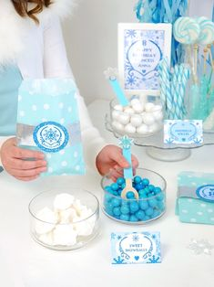 Candy dishes from a Shimmering Frozen Birthday Party on Kara's Party Ideas | KarasPartyIdeas.com (34)