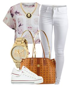 """""""."""" by trillest-queen ❤ liked on Polyvore featuring Finders Keepers, Pieces, Roial, Jennifer Meyer Jewelry, Juicy Couture, MCM and Converse"""