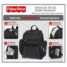 3a1cbba0867 Fisher Price FastFinder Diaper Bag - makes diaper bag organization easy and  convenient