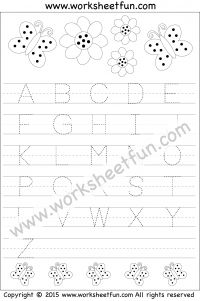 Letter Tracing Worksheet – Capital Letters