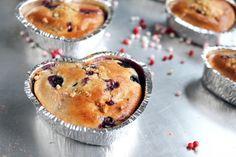Valentinstag Blueberry Muffins
