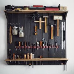 Leather Workshop Storage 17 Ideas For 2019 Workshop Storage, Workshop Organization, Tool Storage, Lumber Storage, Garage Organization, Garage Storage, Storage Ideas, Leather Working Tools, Leather Craft Tools