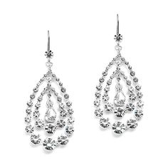 Crystal Circles Dangle Earrings for Prom