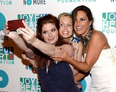 Debra Messing, Alexandra Wentworth and Mariska Hargitay attend the 2013 Joyful Heart Foundation Gala at Cipriani 42nd Street in New York City, on May 9, 2013.