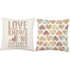 Love Knows No Distance Throw Pillows