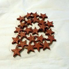 100 x 1 inch red glitter stars Christmas decoration crafts