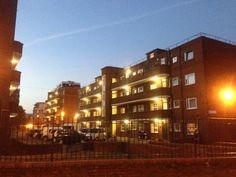 Colville Estate, Hackney at dusk