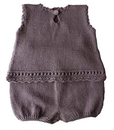 Keiki by Muriela Tunic & Bloomers in sizes & 18 months Knitting For Kids, Baby Knitting Patterns, Crochet For Kids, Knitting Designs, Knitting Projects, Crochet Baby, Knit Crochet, Laine Drops, Romper Pattern