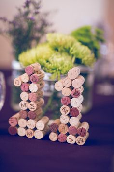 How cute is this? Table numbers made out of wine corks! {Ashley Paige Photography}