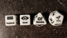 Character creation dice Dungeons and Dragons D&D or Pathfinder I want some of these dice! That could make for some fun writing exercises: toss out a couple rolls and write scenes with the resulting character types :) Tabletop Rpg, Tabletop Games, Admirateur Secret, Pen & Paper, Rpg Map, Dnd Funny, Dungeons And Dragons Memes, Dragon Memes, Dnd Characters