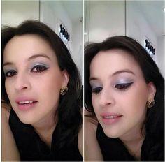 Make de hoje da @glauciapeixotosa, do Beauty Team da NYX do Teresina Shopping. Ela usou o pigmento Loose Pearl na cor Ocean Blue nos olhos e, nos lábios, batom Round Lipstick Flower
