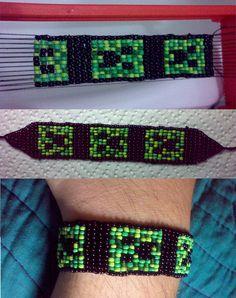 Bead Loom Bracelet - Creeper | Flickr - Photo Sharing!