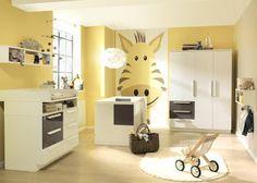 dormitorios de bebé paredes amarillas