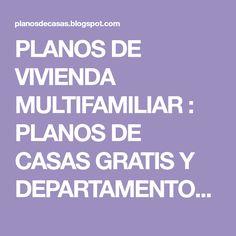 PLANOS DE VIVIENDA MULTIFAMILIAR : PLANOS DE CASAS GRATIS Y DEPARTAMENTOS EN VENTA