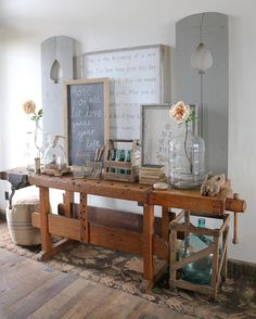 I wanted to share with y'all my Grandma Rosemary's antique work bench that I'm…