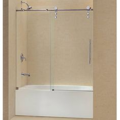 Enigma Z 59 In X 62 In Frameless Sliding Tub Door In