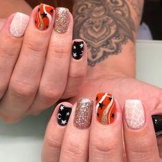Aycrlic Nails, Cute Nails, Pretty Nails, Manicure, Nail Drawing, Fall Nail Art, Halloween Nail Art, Simple Nail Designs, Simple Nails