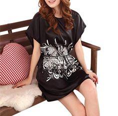 LY Womens Silk Satin Batwing Sleeve Sleep Shirt Sleepwear Nightgown Pajamas  at Amazon Women s Clothing store  1cc565634