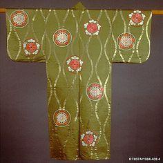 Robe, Noh. Meiji period (1868–1912) Japan. Silk, metallic thread