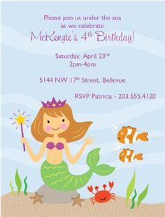 Printable Mermaid Invitations