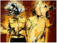 Skull Illustration by Russ Mills Art And Illustration, Illustrations, Drawing Artist, Artist Art, Russell Mills, Psy Art, Galleries In London, Skull Art, Art Photography