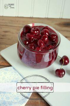 Easy Cherry Pie Filling | Crumbs and Chaos #cherries www.crumbsandchaos.net