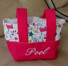 Two Color Tote Bag, In The Hoop - 5 Sizes! | What's New | Machine Embroidery Designs | SWAKembroidery.com Band to Bow