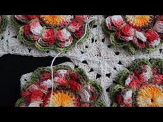 Uniendo cuadrados de Crochê ✿Teresa Restegui http://www.pinterest.com/teretegui/✿