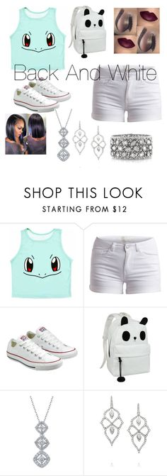 Back And White by addisonlaylor on Polyvore featuring Pieces, Converse, Mark Broumand and Stephen Webster