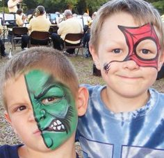 Face Painting Ideas. Love the Hulk face!