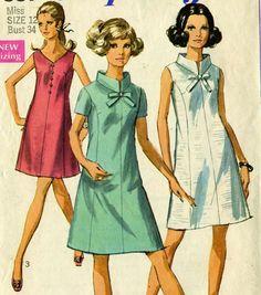 Vintage 60s Simplicity 7987 CUT Misses Princess by RomasMaison