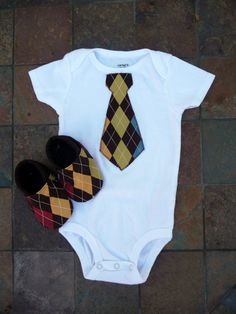 Baby Boy Gift Set  Tie Onesie with Matching Cloth by briave, $24.00