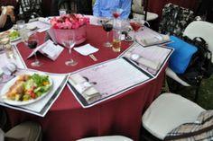 centros de mesa, servilleteros y manteles individuales personalizados