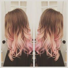 Pink Hair, Balayage, Ombré