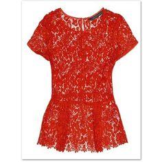 Novedades Zara Mayo 2012 Top Crochet Rojo - Polyvore