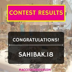 The Winner has been announced!! CONGRATULATIONS to @sahibak.18 for being the lucky one to win Forever 21 accessories  Thank you to everyone else who participated we'll be coming up with more contests soon  #Styledotme #bloggerlove #bloggersadvice #bloggers #instantfashion #instantadvice #instantfashionadvice #style #fashion #fashionable #sdm #contest #winner #contestwinner #accessoriesxsdm