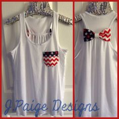 Red, White and Blue Tank Top $25 J.Paige Designs To Order- email at jpaigedesigns13@gmail.com